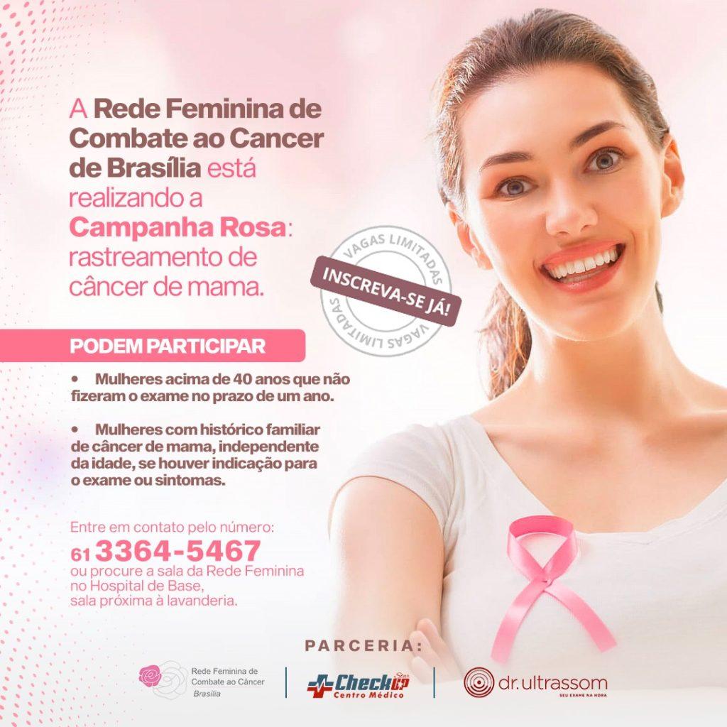saúde brasília mamografia rede feminina combate ao câncer df