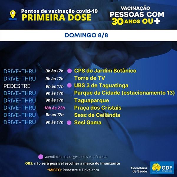 pontos-de-vacinacao-primeira-dose-saude-brasilia-df-covid-domingo